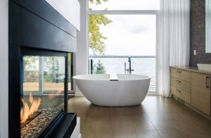 Cozy bathroom with a view