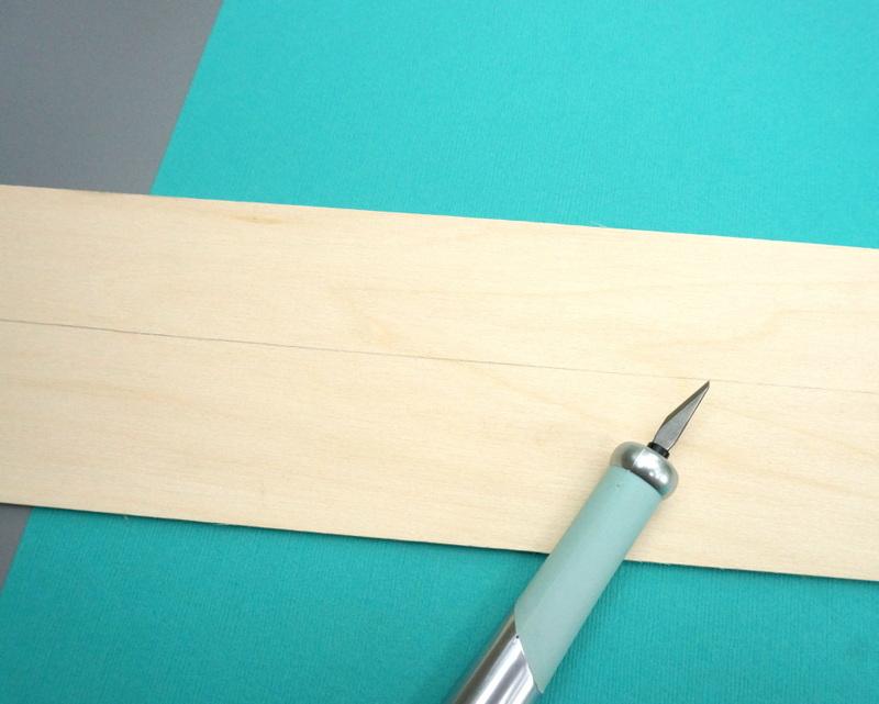 Cutting the craft wood