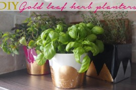 DIY Gold & Silver Foil Herb Planters