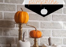 DIY No-Sew White Sweater Pumpkins