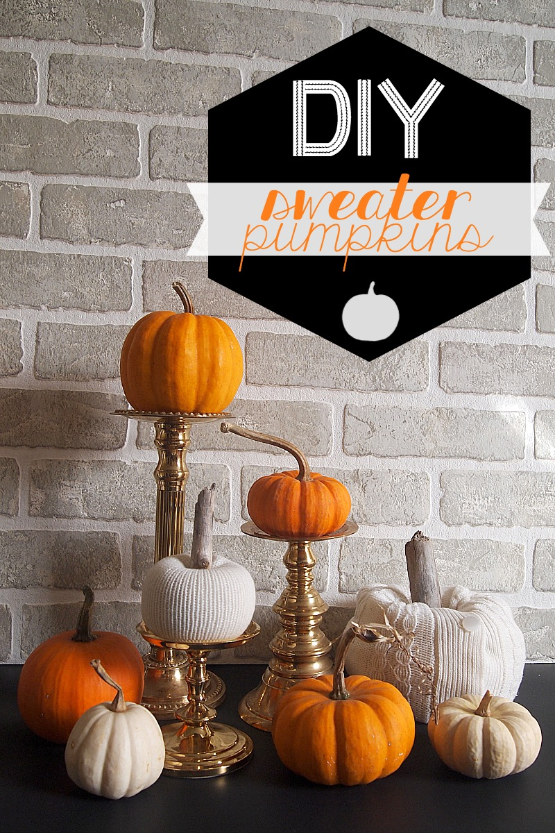 DIY Sweater Pumpkin Idea DIY No Sew White Sweater Pumpkins