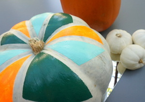 DIY geo painted pumpkin