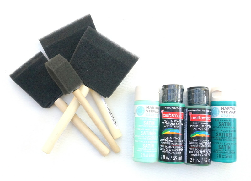 DIY modern art project supplies Chic Monochromatic DIY Painting With Ombre Style