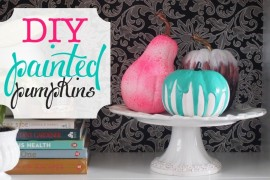 DIY Fun and Colorful Painted Pumpkins!