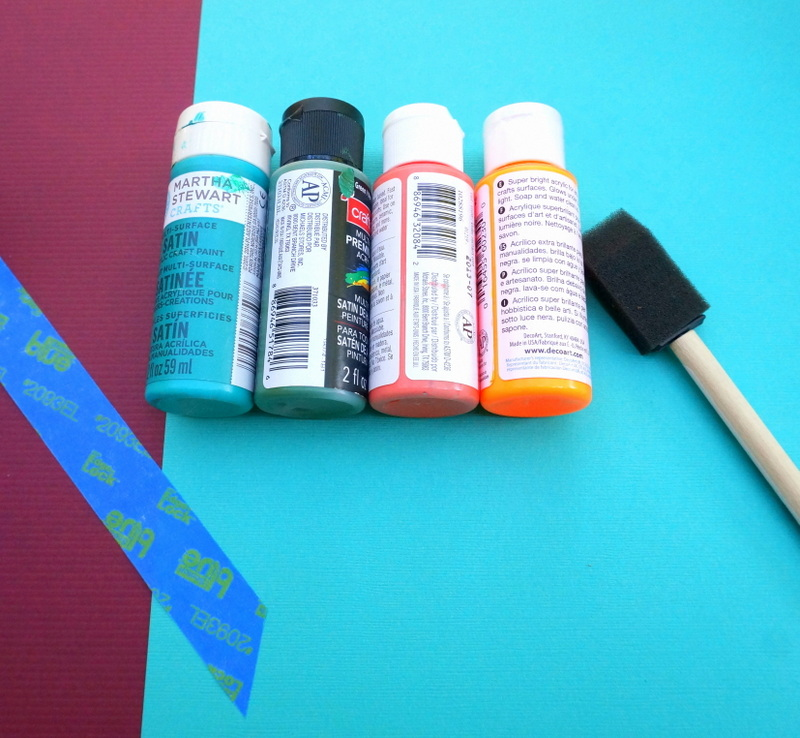 DIY pumpkin painting supplies