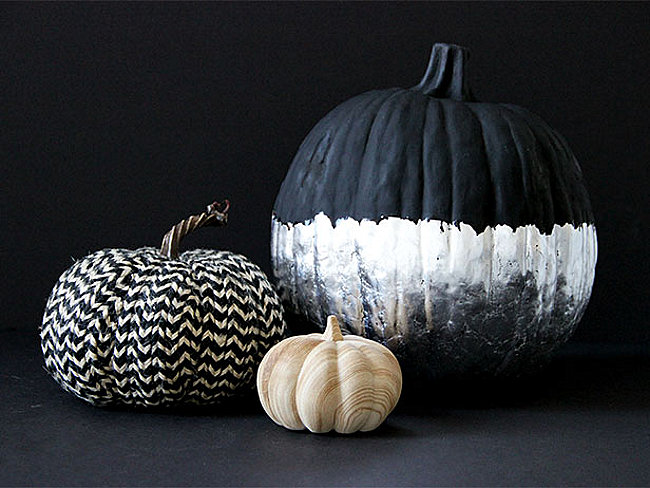 DIY silver leaf pumpkin