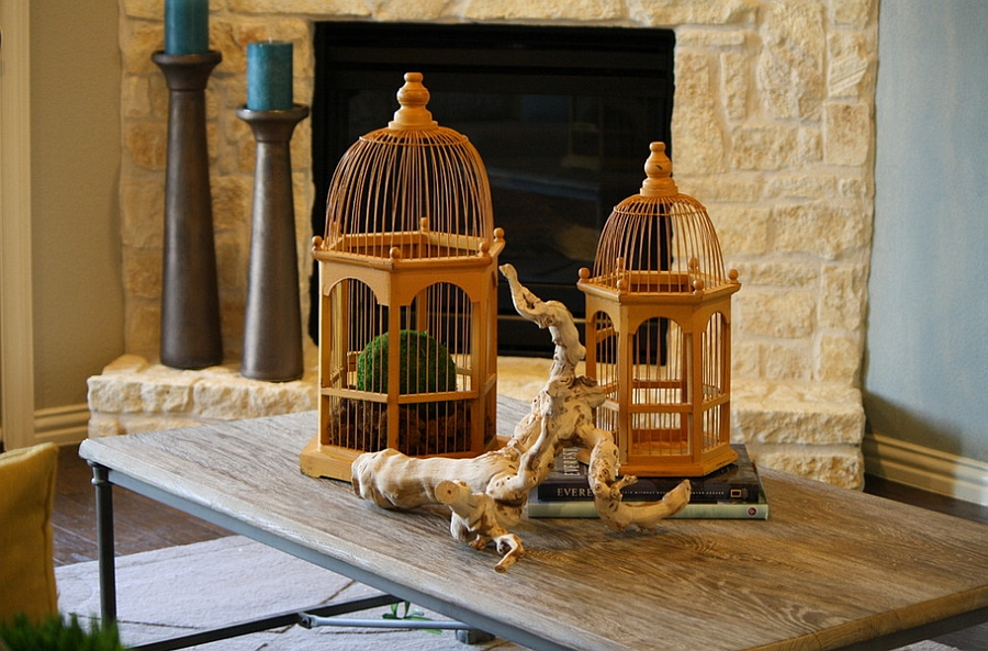 Decorate your living room table with birdcages [Design: Cristi Holcombe Interiors]