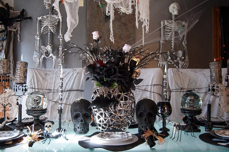 Decorating your dining room to give chills to your guests! [From: Adrienne DeRosa Photography]