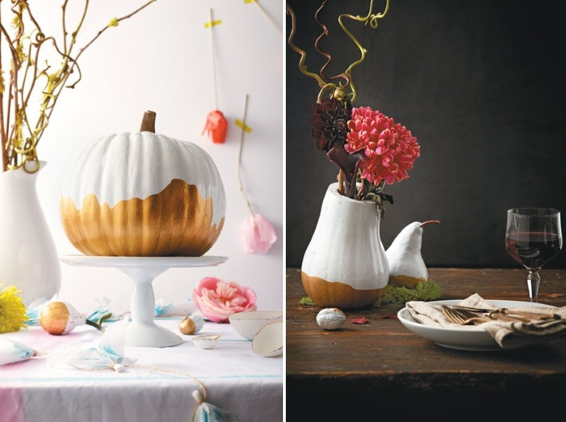 Double-dipped pumpkin decorating idea
