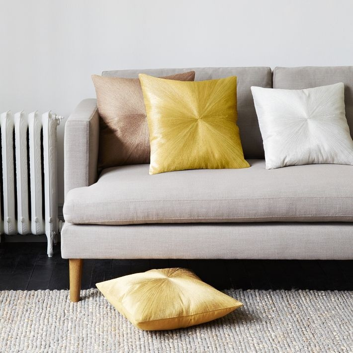 Transition your fall decor to winter with metallic flair West elm pillows