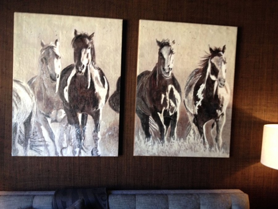 Enacustic art has a modern rustic style that charms you instantly