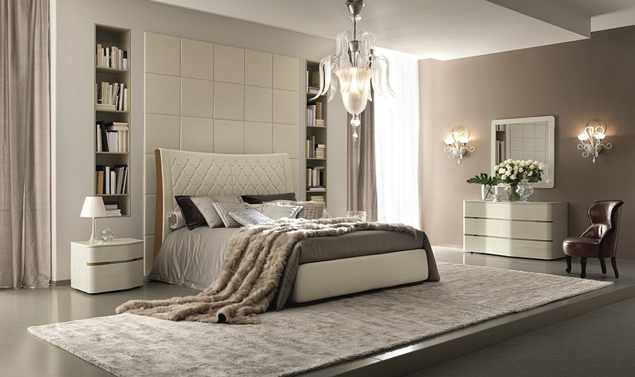 Contemporary bedroom furniture collection lavish italian for Modern feminine bedroom designs