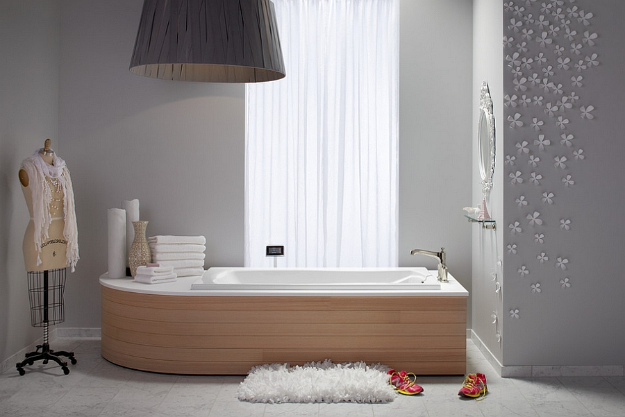 Exquisite bathroom in grey looks visually delicate and relaxing [Design: Kohler]