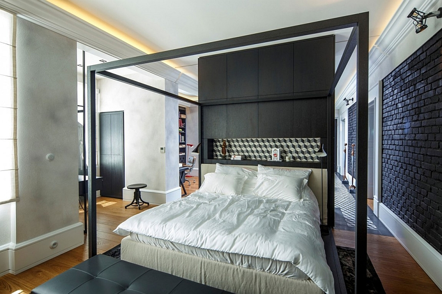 Exquisite bedroom design with plush textures