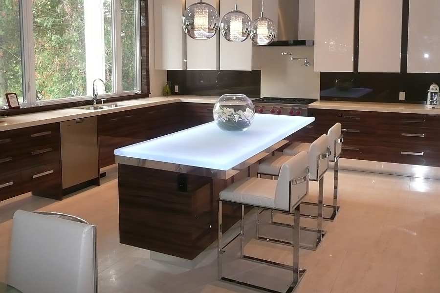 Exquisite modern kitchen designed by CGD Hot Trends: Talking Glass Countertops With Vladimir Fridman [Interview]