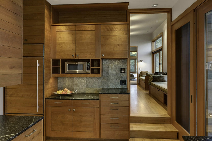 Exquisite use of wood brings warmth to the interior