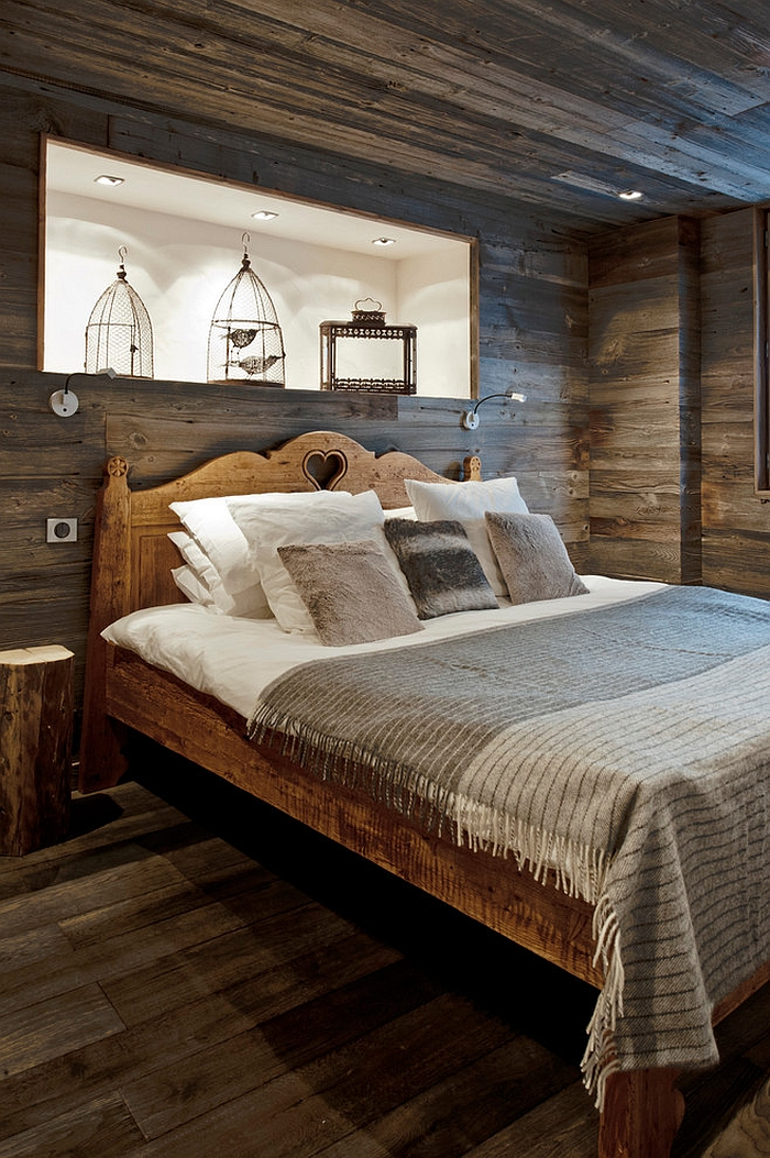 Fascinating use of birdcages in the rustic bedroom [Design: Inspired Dwellings]