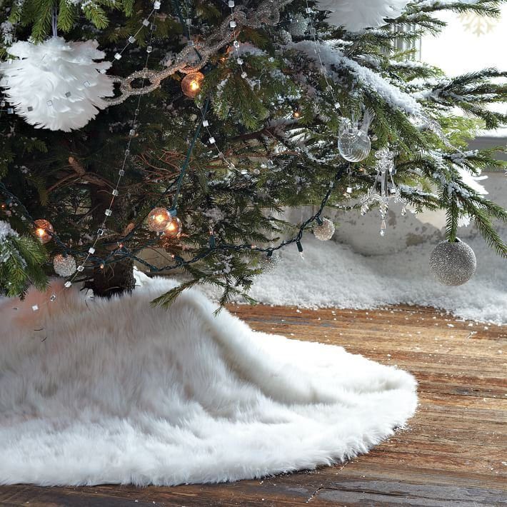 Faux fur tree skirt from West Elm