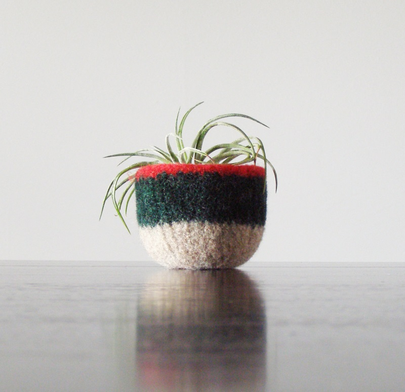 Felted wool bowl from The Felterie