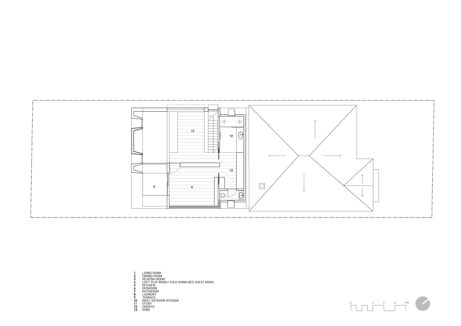 Floor plan for Victorian era cottage renovation in Melbourne