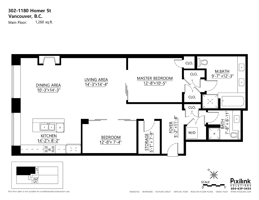 Floor plan of the stylish loft