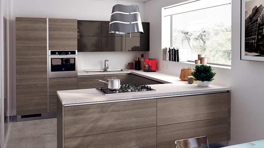 12 exquisite small kitchen designs with italian style for Small contemporary kitchen