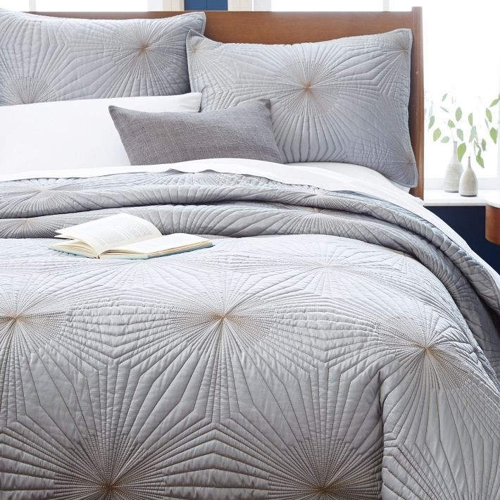 Geometric bedding from West Elm