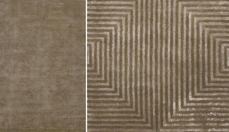 Geometric rug from DwellStudio