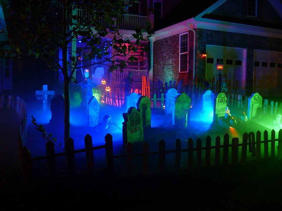 halloween lighting ideas. Getting The Halloween Lighting For Front Yard Spot On [From: Forum] Ideas E