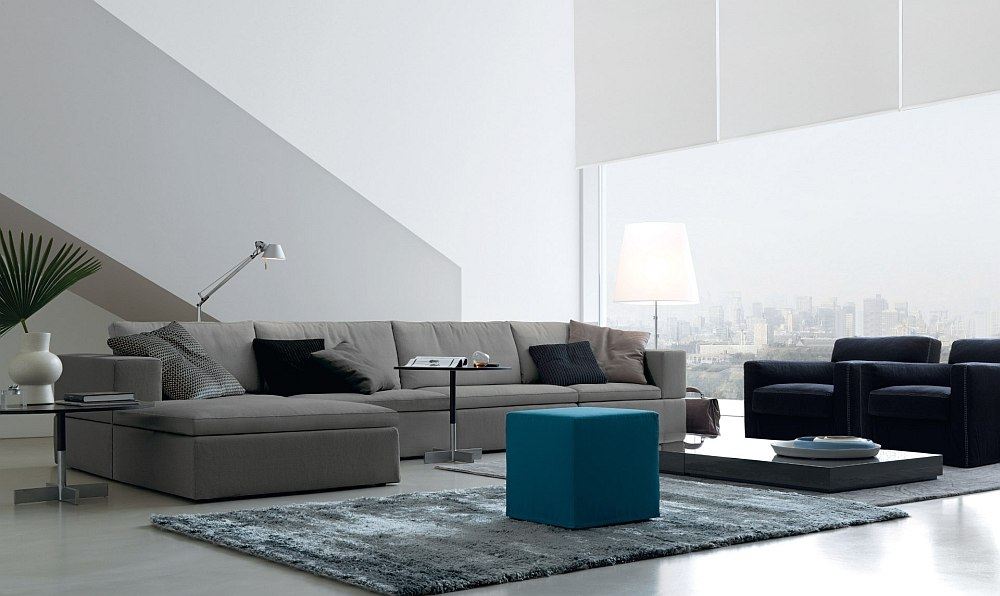 Glenn Coffee table along with the leon pouf in the living room