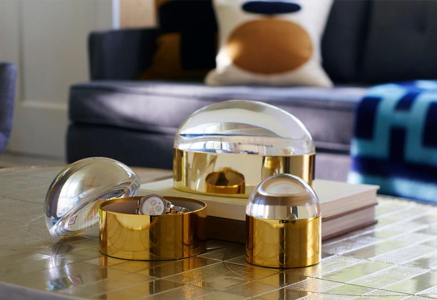Globe brass boxes