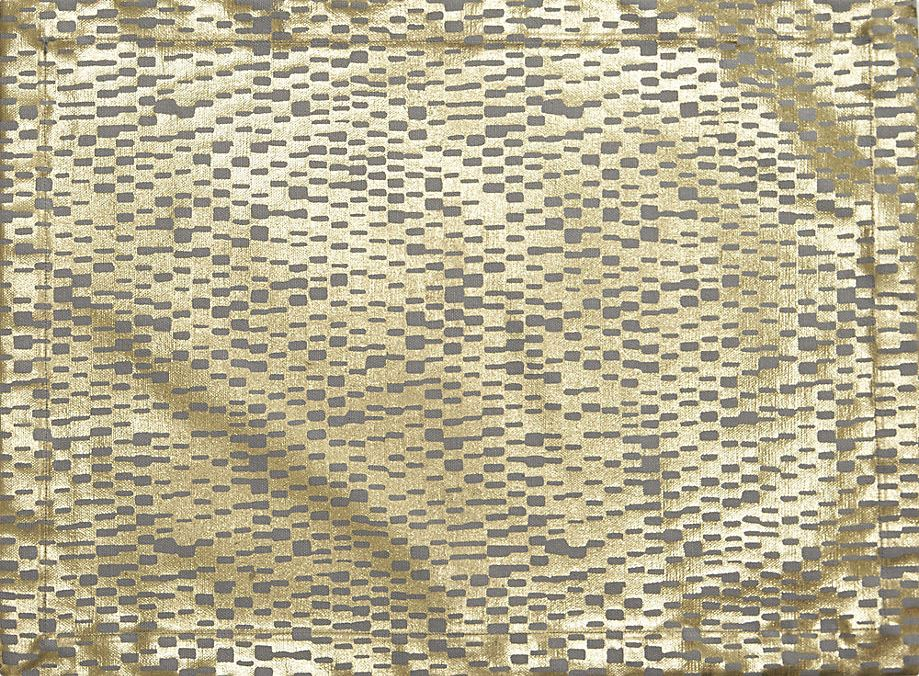Gold and grey placemat from CB2