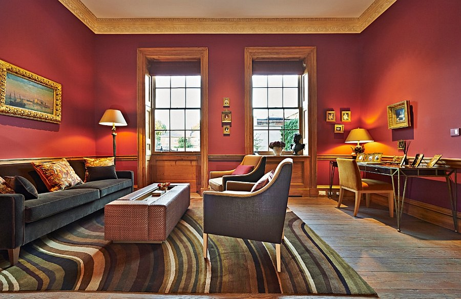 Red living rooms design ideas decorations photos for Bedroom ideas red and gold