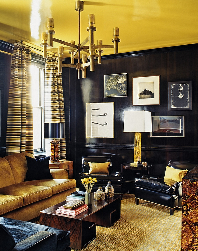 Golden yellow gives the room a refined vibe [Photography by Eric Piasecki]