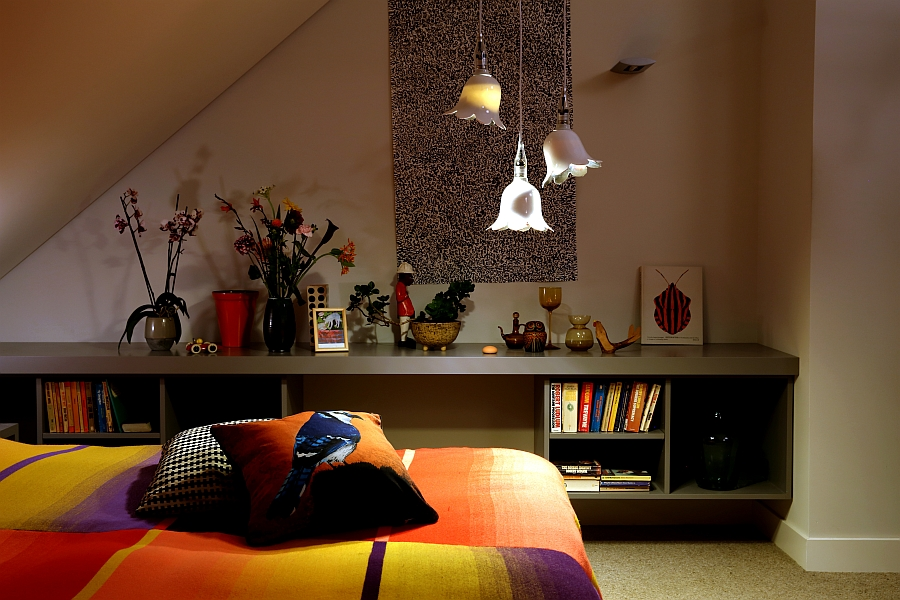 Goregous Booo lights add a feminine touch to the space