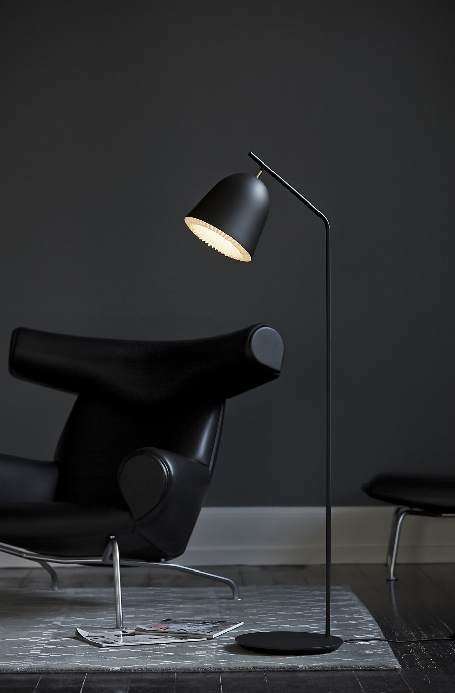 Gorgeous Cache floor lamp from Le Klint in cool black