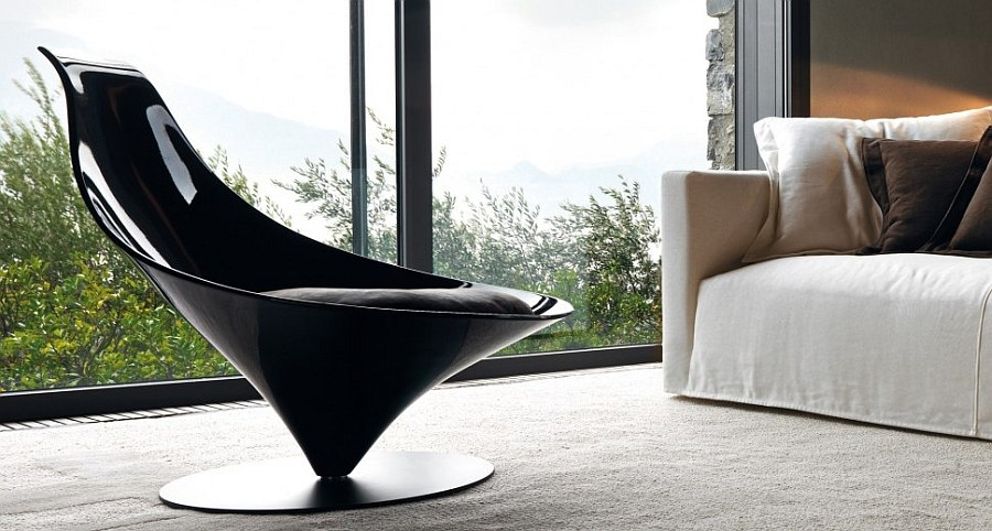 Gorgeous armchair in black is perfect for modern minimalist spaces