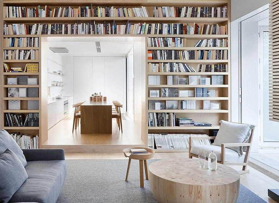 Beautiful View In Gallery Gorgeous Use Of Books To Decorate The Living Space