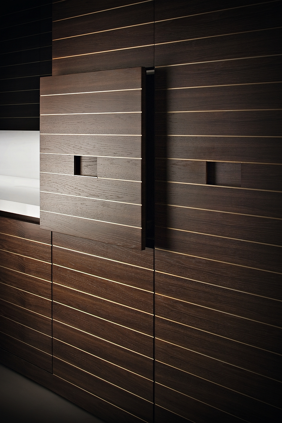Hide away your kitchen appliances with the new slide system from Armani & Dada