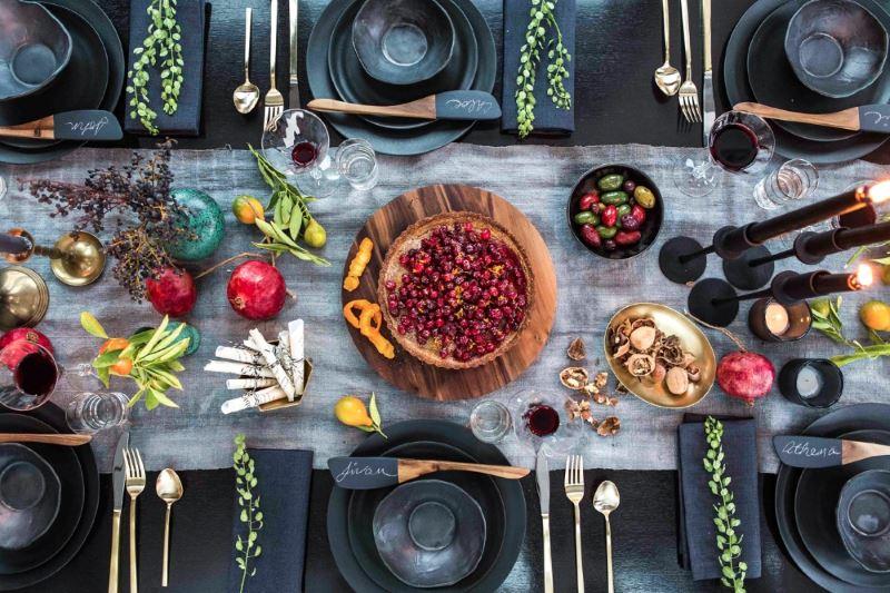 Holiday table by Athena Calderone