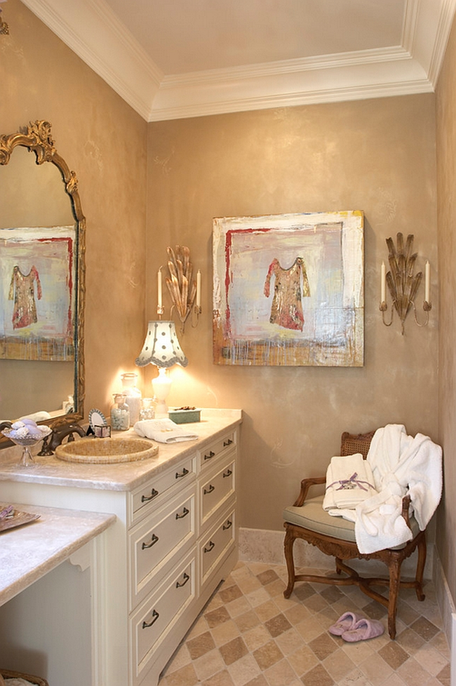 Inimitable modern bath with beautiful vintage charm [Design: Margaret L. Norcott]