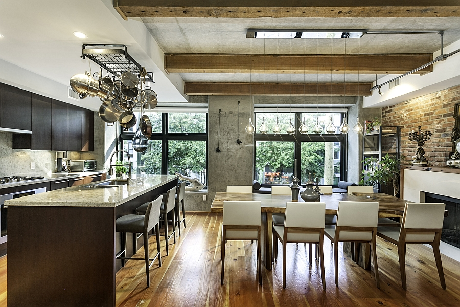 Large windows bring in ample ventilation into the loft Modernism Meets Eclectic Beauty Inside Exclusive Vancouver Loft