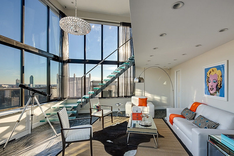 9 charming nyc home design ideas for Penthouse apartments in nyc