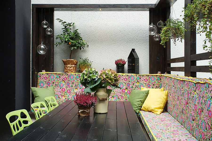 Lovely addition of color in the patio