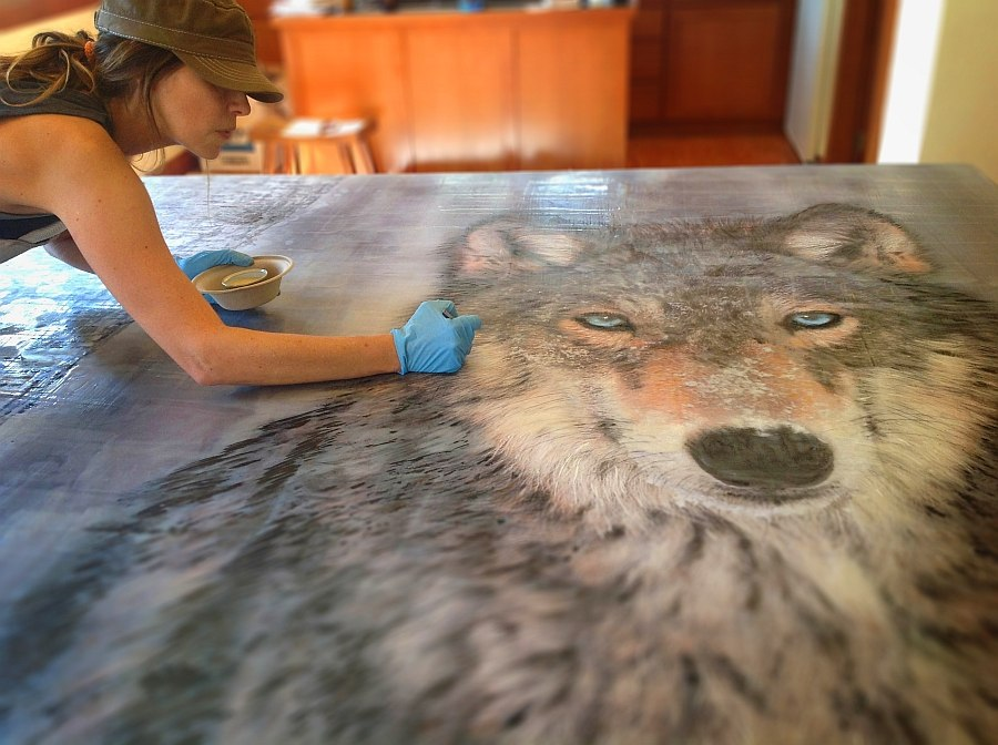 Mesmerizing eyes of the wolf draw you in instantly
