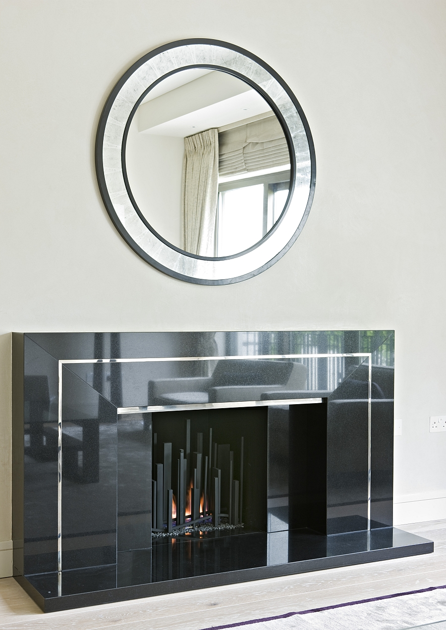 Metropolis Fireplace in an art deco setting