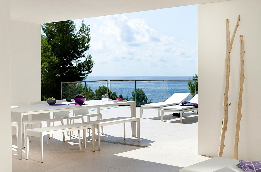 View In Gallery Mirthe Outdoor Table Chairs And Lounger Bring Sustainable  Style To Your Patio