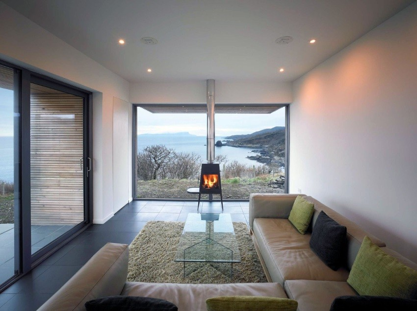 View In Gallery Modern Fireplace In A Cozy Living Room With Ample Seating