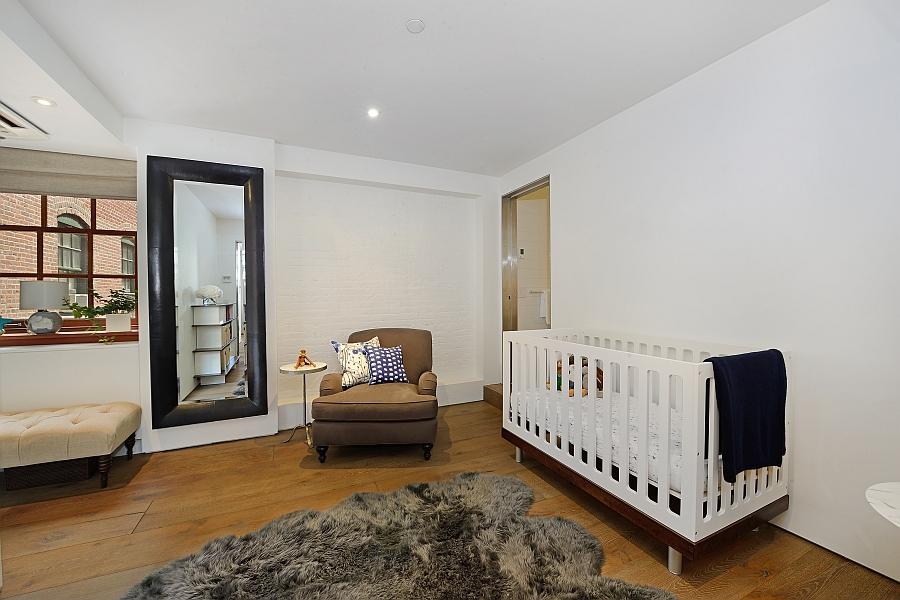 Modern kids' nursery in white
