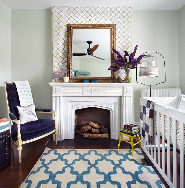 Modern nursery with simple pops of color [From: Lisa Petrole Photography]